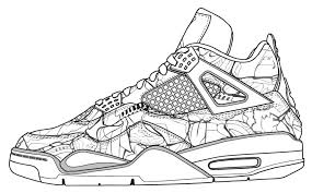 Small Picture Jordan Shoe Coloring Pages FunyColoring