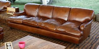 lansdown 4 seater leather sofa