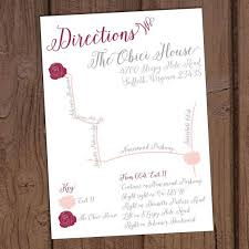 best 25 wedding direction maps ideas on pinterest typography Wedding Invitation Direction Inserts romantic blush floral wedding directions card with custom map wedding invitation direction inserts template