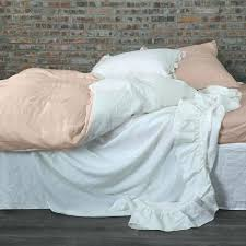 pure linen duvet cover in two tones salmon optic whitelinen ikea review set by