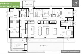 single story house plans with 4 bedrooms