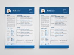 Clean Blue Free Clean Blue Resume Template In Illustrator Format