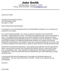 cover letter sample studententry level sample cover letter for student