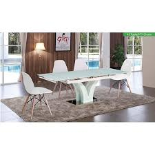 Frosted glass dining table Designer Esf 43 Rectangle Frosted Glass Dining Table 971 Chair Dining Set In Blue Pcs Walmartcom Walmart Esf 43 Rectangle Frosted Glass Dining Table 971 Chair Dining Set In