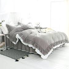 gray ruffle bedding shabby chic white ruffle bedding sophisticated elegant solid gray and white ruffled shabby gray ruffle bedding