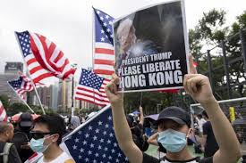 Image result for hong kong us flag