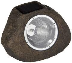 Rock Spot Light Sterno Home Gl28560st Paradise Solar Polyresin Rock Spot Light Stone