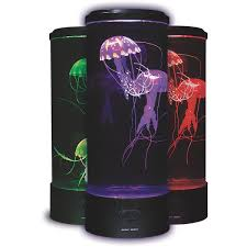Jellyfish Tank Mood Light Amazon Fascinations Fasjellye Electric Jellyfish Mood Light New Round Design