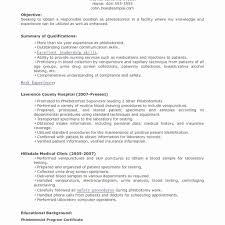 Phlebotomy Resume Templates Phlebotomy Resume Sample Elegant Ekg Resume Objective Phlebotomy 17