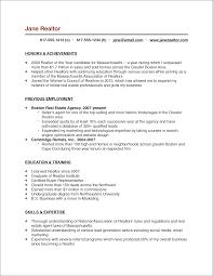 Impressive Real Estate Agent Resume Entry Level In Entry Level Real Estate  Agent Resume