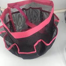 vova ecoss folding bathroom quick dry shower tote mesh shower caddy hanging toiletry and bath organizer with 8 storage compartments perfect dorm gym