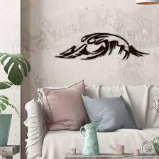 sea waves metal wall art home decor