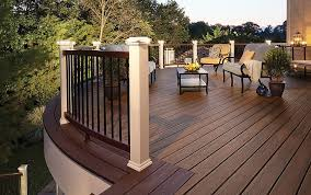 decking lighting ideas. deck hand rail white post cap light decking lighting ideas