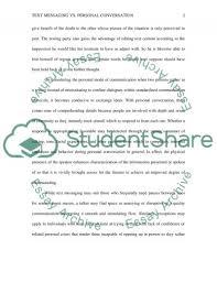 text messaging vs personal conversation essay example topics  text messaging vs personal conversation essay example