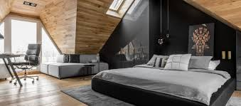 Great Masculine Attic Bedroom In Poland Exudes Character