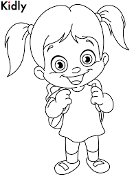 Small Picture Coloring Pages For Little Girls Chibi Popcorn Girl Girl Coloring