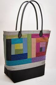 Patchwork Tote Challenge: Jennifer   Sew Mama Sew & Jennifer from Sewplicity stepped outside of her comfort zone to incorporate  quilting in her tote, and she also added a faux black leather base and  these ... Adamdwight.com