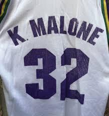 90 S Karl Malone Utah Jazz Champion Nba Jersey Size 40
