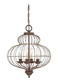 elstead quoizel laila 4 light ceiling fitting with a rustic antique bronze finish