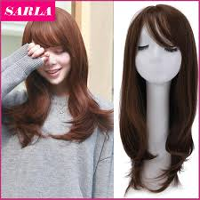 Aliexpress Com Buy 1pc Women Medium Wigs With Side Bang High