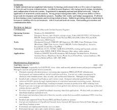 Pbx Administrator Sample Resume Resume System Network Administrator Sample Cv Samples Template Pdf 5