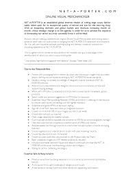 Ideas Collection Visual Merchandising Resume Sample With Visual