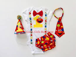 Elmo First 1st Birthday Outfit Smash Cake Outfit Tie Birthday Etsy