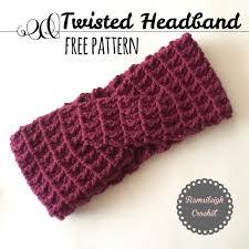 Crochet Headband Pattern Best Twisted Headband Free Crochet Pattern