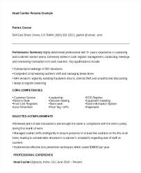 Cashier Resume Description example of cashier resume restama 55