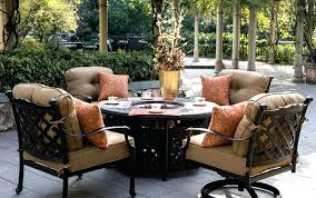 round fire pit table and chairs patio furniture with fire pit round fire pit table set