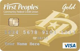 visa gold card first peoples gold visa