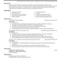 Personal Injury Paralegal Resume Best Sample Paralegal Resume Orlandomovingco
