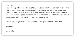 Thank You Letter After Interview Hospitality Industry