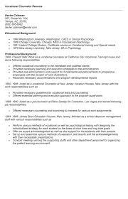 sample resume exle of vocational counselor resume vocational counselor resume