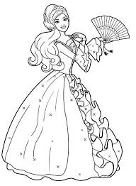 amazing drawing barbie doll coloring page