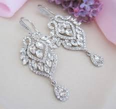 crystal bridal chandelier earrings bridal jewelry bridesmaid earrings bridal dangle earrings bridal accessories