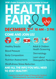 Health Fair Flyers Burrell College Of Osteopathic Medicine Sosa Health Fair December