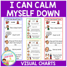 I Can Calm Myself Down Charts Autism By Creative Learning 4 Kidz