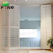 decorative vinyl pvc sliding bi folding plantation shutters