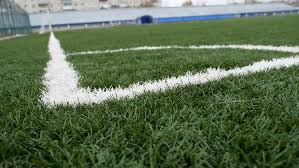 artificial turf soccer field. Football Soccer Field Corner With Green Artificial Grass Sport - 4K Stock Footage Clip Turf L