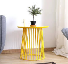 side tables round wire side table modern minimalism storage side table metal wire storage round