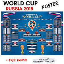 Galleon World Cup Russia 2018 Wall Chart Soccer Calendar