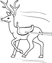 Small Picture Reindeer Christmas Coloring Pages Rudolph The Red Nosed Reindeer