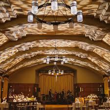 set up of a wedding venue hall