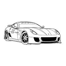 Leuk Voor Kids Kleurplaat Ferrari 599 Auto Auto Tekeningen