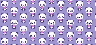 Purple Baby Pandas Petits Pixels