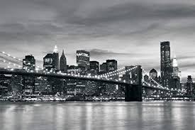 brooklyn bridge new york black white wallpaper mural by consalnet