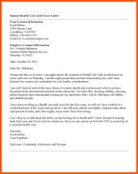 Care Aide Cover Letter 8 Cover Letter For Health Care Aide Iwsp5