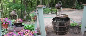 wine barrel garden fountain design