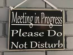 10x8 Meeting In Progress Wood Business Corporate Sign Designs By Prim